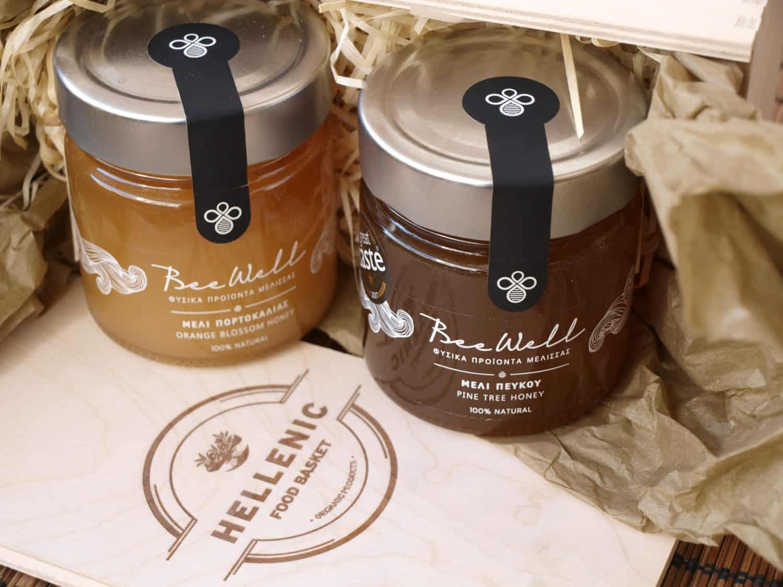 Natural Honey Basket