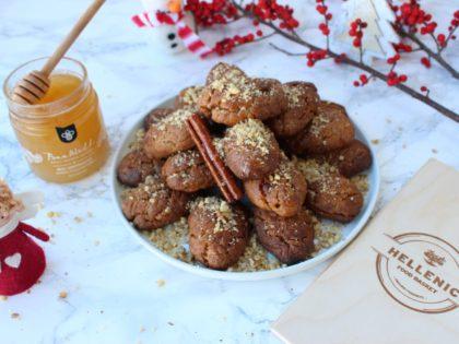 Greek Christmas honey cookies
