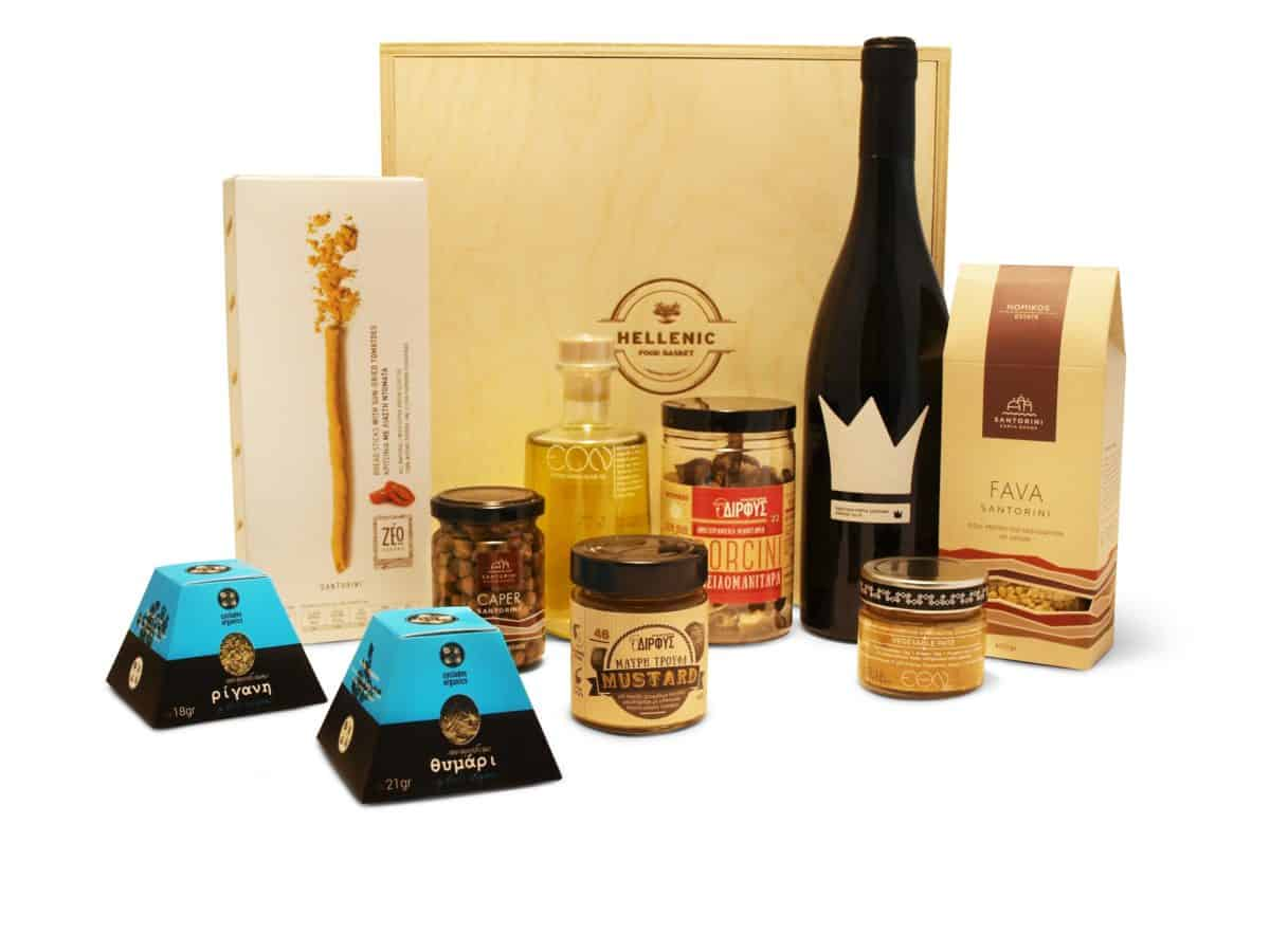 Hellenic Food Basket | Wine Gift Basket