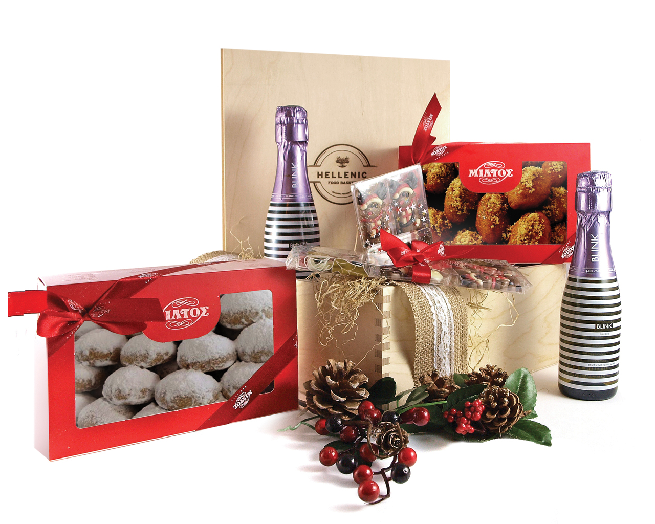 Bubbly Dreams - Christmas basket