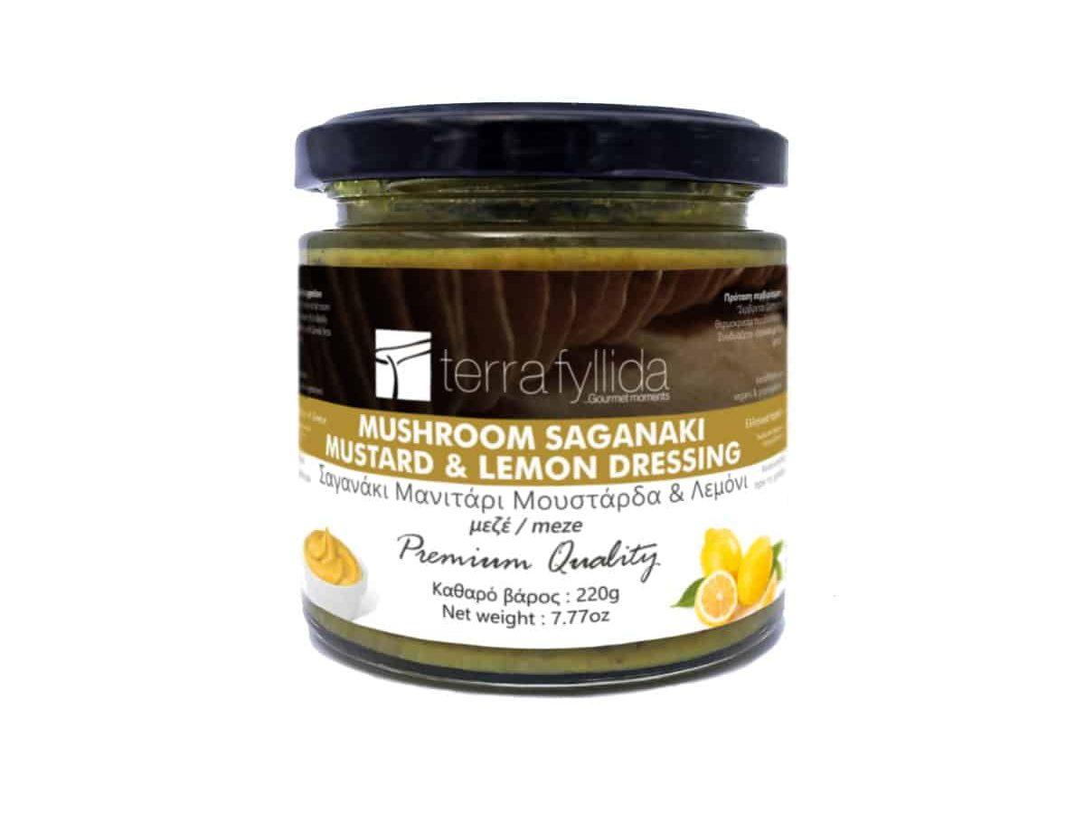 TERRA-FYLLIDA-Mushroom Saganaki with mustard & lemon dressing