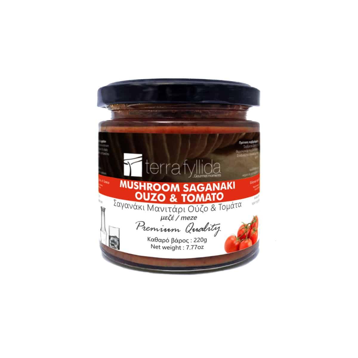 TERRA-FYLLIDA-Mushroom Saganaki with ouzo & tomato
