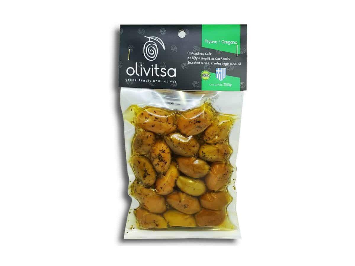 Greek Traditional Olives with Oregano Olivitsa